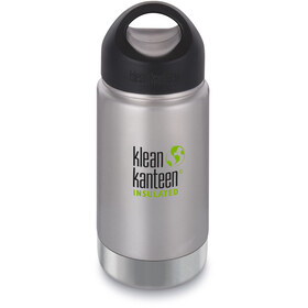 Klean Kanteen Wide Vacuum Insulated - Recipientes para bebidas - Stainless Loop Cap 355ml Plateado